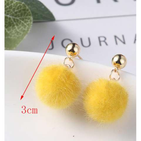 Anting Tusuk Elegant Flower&pearl Decorated Color Matching Simple Earrings. Source · LRC Anting Tusuk Lovely Fuzzy Ball Decorated Pom Earrings