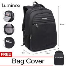 Luminox Tas Ransel Laptop - Tas Pria Tas Wanita Tas Laptop - Backpack Up to 15 inch Anti Air 5911 - Hitam Bonus Bag Cover