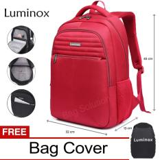 Luminox Tas Ransel Laptop - Tas Pria Tas Wanita Tas Laptop - Backpack Up to 15 inch Anti Air 5911 - Merah Bonus Bag Cover