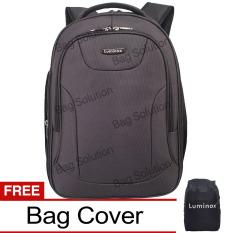Luminox Tas Ransel Laptop Tahan Air - Tas Pria Tas Wanita 7709 Backpack Expandable Up to 15 inch Bonus Bag Cover - Hitam