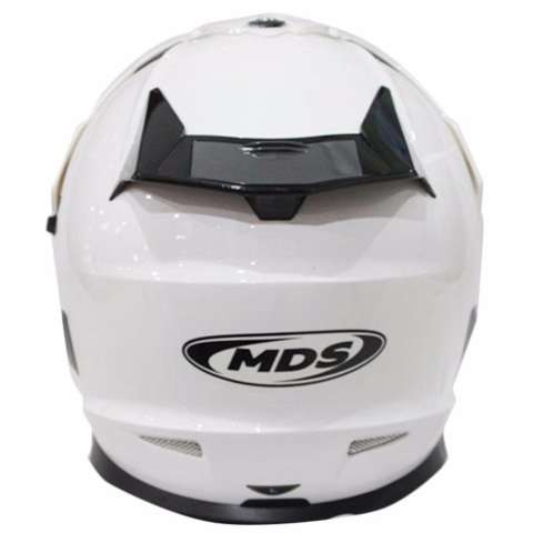 MDS Helm Full Face Motor Cross MDS Super Pro Supermoto Double Visor Yamaha Ninja Honda White