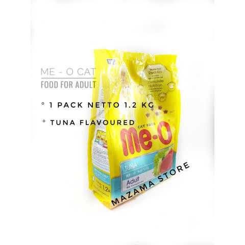 1 Pack Me-O Adult Cat Food Tuna Flavor 1,2 Kg / MeO