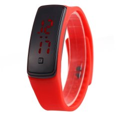 Men Women LED Digital Bracelet Watch Sport Wristwatch (Red)- Intl