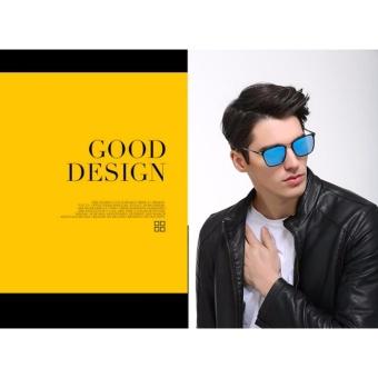 Promo Kacamata Hitam Pria Kotak Baru Polarized Sunglasses P0864 Driver Logam Sunglasses Sunglasses (Emas Hitam