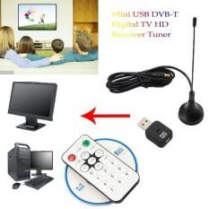 Mini USB DVB-T Digital TV HD Receiver Tuner Stick OSD MPEG-2/4 For Laptop PC New
