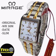 Mirage Jam Tangan Wanita Original - strap Stainless - MG395RS .