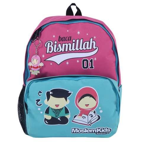 "Home; Moslem Kids Tas Ransel Anak Cewek ""Baca Bismillah"" ..."