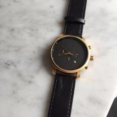 MVMT CHRONO Gold Black Leather