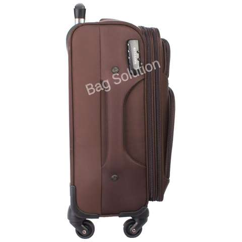 Navy Club Tas Koper Softcase Kabin 3836-18 inch Coffee [4-Roda Putar