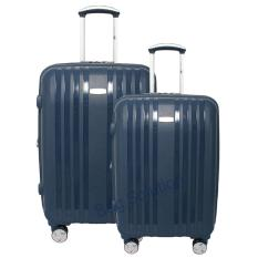 Navy Club Tas Koper Set Koper Hardcase Fiber PP - 4 Roda Putar Resleting Anti Tusuk - Kunci TSA - 3866 Size 20+24 - Inch Biru Tua