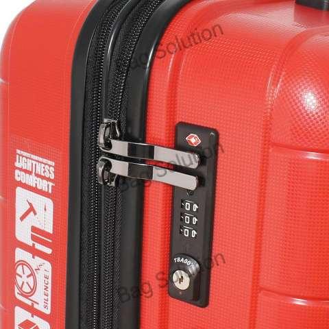 Navy Club Tas Koper Set Hardcase Fiber - PP 4 Roda Resleting Anti Tusuk - Kunci