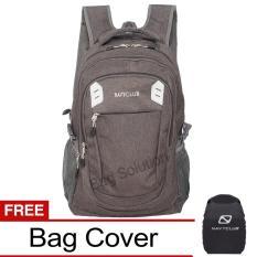 Navy Club Tas Ransel Kasual Jumbo - Tas Pria Tas Wanita - EIEA Backpack Jumbo Bonus Bag Cover - Abu