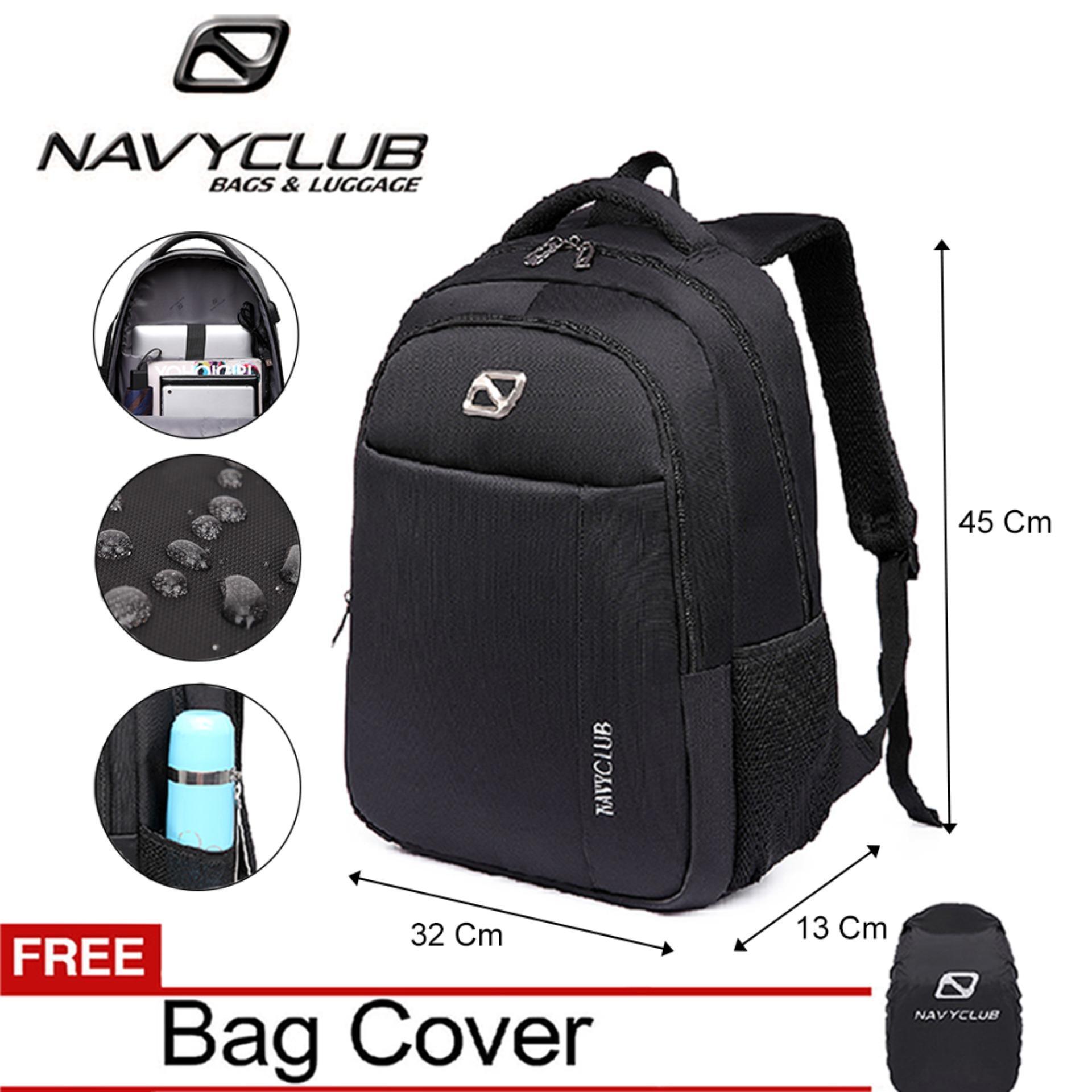 Review Navy Club Tas Ransel Laptop Pria Wanita Backpack Up To 156 Inch
