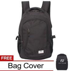 Navy Club Tas Ransel Laptop Kasual - Tas Pria Tas Wanita Tas Laptop Trendy EIBA Backpack Up to 14 inch Daypaack - Hitam
