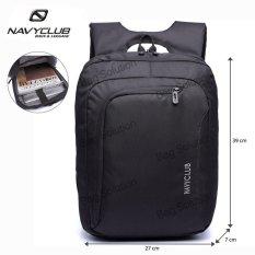 Navy Club Tas Ransel Laptop Tahan Air - Tas Pria Tas Wanita 5850 Backpack Up to 15 inch - Hitam