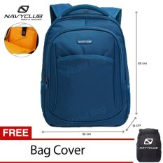 Navy Club Tas Ransel Laptop Tahan Air 8292 Backpack Up to 15 inch  Bonus Bag Cover - Biru