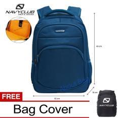 Navy Club Tas Ransel Laptop Tahan Air 8296 Backpack Up to 15 inch  Bonus Bag Cover - Biru