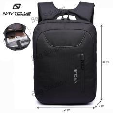 Navy Club Tas Ransel Laptop Tahan Air - Tas pria Tas Wanita Tas Laptop - 5883 Backpack Up to 15 inch - Hitam