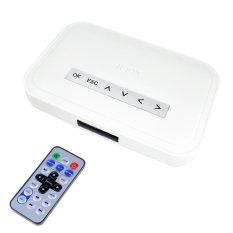NBOX RM RMVB MP3 AVI MPEG DivX HDD HD TV USB SD Kartu Media PlayerRemote (Putih)-Intl