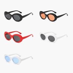 Baru Retro Kecil Kotak Sunglasses Pria dan Women Tren Sunglasses-Kotak Putih Hitam Abu-abu-Intl