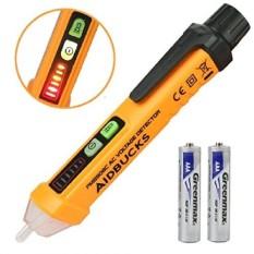 Non-Contact Voltage Tester Electrical Voltage Detector Pen 12-1000VAC Inductive Electric Tester Pen Digital Multimeter Volt Mete - intl