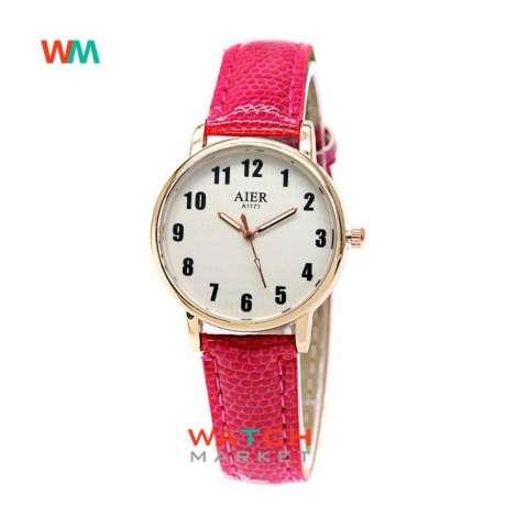 ... Fashion Leather Strap Lilit Gelang - Hijau. Source · OEM Aier - Jam Tangan Wanita - Pink Rose Gold - Strap Kulit - 1171-