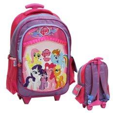 Onlan TasTrolley Anak Perempuan Ukuran Anak Sekolah SD Bahan Saten - Purple