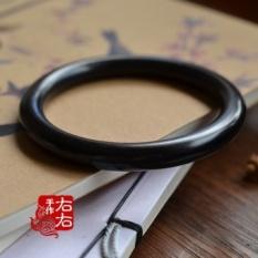 Asli Handmade Klasik Kuno Cincin Fine Gelang Ukiran Kayu Ebony Gelang Temperamen Mailing Sacks-Intl