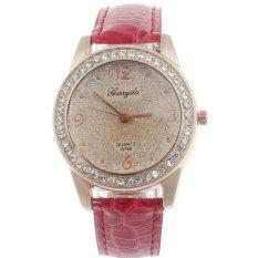 Ormano - Jam Tangan Wanita - Merah - Strap Leather - Violetta Rhinestone Watch