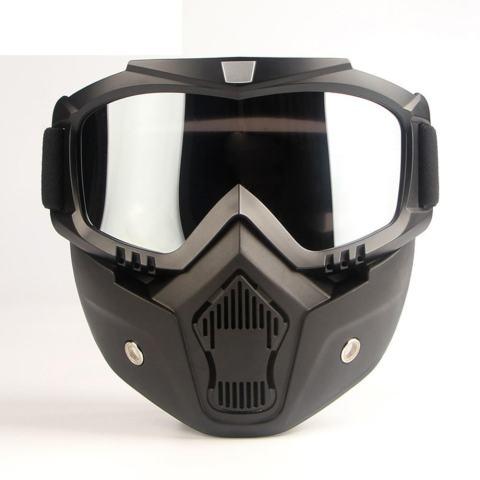 PALIGHT Helm Sepeda Motor Masker Dilepas Filter Mulut Goggles Kacamata-Intl dd43a0e16c