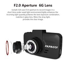PAPAGO GoSafe520 Mobil DVR A7L 1296 P 3.0