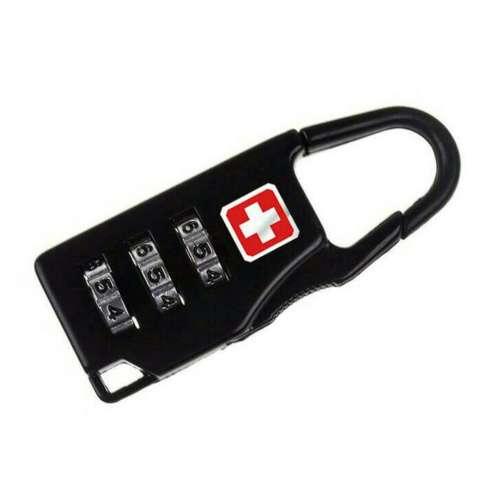 Pengunci Koper Ransel Merk Swiss OMTP19BK Kombinasi 3 Angka - Black