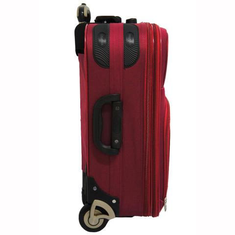 Polo Hunter Tas Koper Softcase Expandable 2 Roda 595-18 Inch - Merah - Gratis