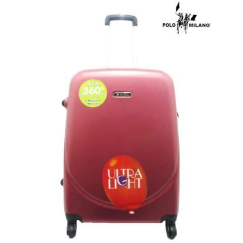 Polo Milano Tas Koper Kabin Fiber Hardcase Luggage 24 Inchi 28106 Anti Theft Original