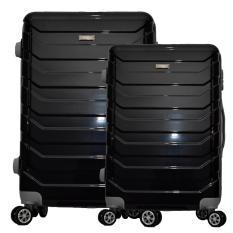 Polo Team Tas Koper Hardcase 4 Roda Putar SET Size 20 + 24 inch 8705- Hitam