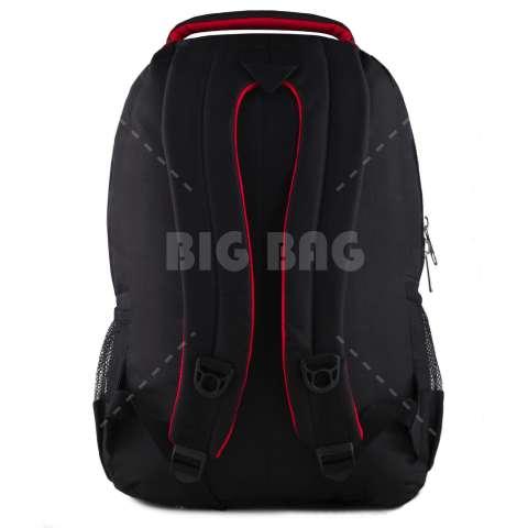 Tas Ransel Polo USA Baracuda Tas Laptop Backpack - Black + Raincover + FREE Tas Selempang