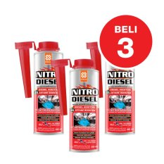 Aditif Hemat BBM Solar Primo NITRO DIESEL Fuel Treatment / Complete Fuel System Cleaner - 3x300 mL