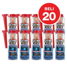 Aditif Hemat BBM Bensin Primo NITRO RACE Fuel Treatment / Complete Fuel System Cleaner - 20x300 mL