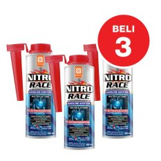Aditif Hemat BBM Bensin Primo NITRO RACE Fuel Treatment / Complete Fuel System Cleaner - 3x300 mL