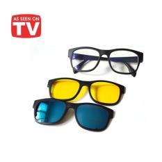 Promo Ask Vision Kacamata 3 in 1 Magnet Lenses kaca mata