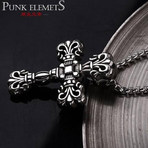 Punk Breeze Sepuluh Kata Liontin Personality Manusia Luo Jantung Pria Kalung Titanium Baja Menggantungkan Sederhana Mahasiswa Bo perhiasan untuk Menggantung untuk Menghias Kencang-Internasional 1
