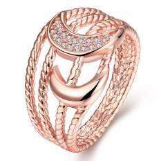 R248-B-8 Tinggi Kualitas Nickle Gratis Antiallergic Baru Fashion Perhiasan Putih Plated Zircon Cincin