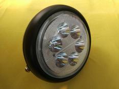 Reflektor Headlamp Head Lamp Lampu Depan Bulat LED Hitam Vixion CB