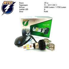 RTD - Lampu LED 6 Sisi AC DC Hs1 H4 H6 Hi Lo 35 Watt - Putih