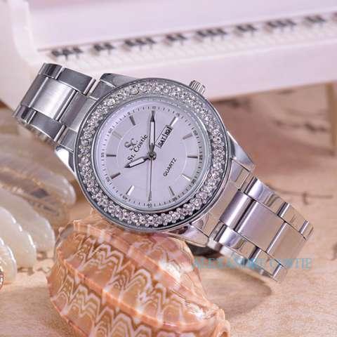 Saint Costie - Jam Tangan Wanita-Body Silver-White Dial - SC-5758D