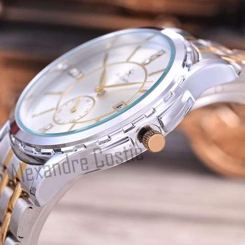 Saint Costie Original Brand, Jam Tangan Pria - Body Silver/Gold – White Dial