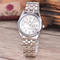 Saint Costie Original Brand-Jam Tangan Pria-Body Silver-white dial-Stainless
