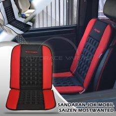 Saizen Sarung Jok Mobil / Cover Jok kursi Mobil / Bantal mobil / Sandaran Punggung / Pijat / Kursi Kesehatan / variasi mobil / aksesoris mobil  Mostwanted SX-01 - Red