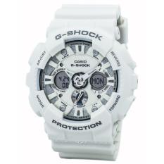 SALE - CASIO G-SHOCK GA-120A-7 - PROTECTION - Analog-Digital - Multifunction - Jam Tangan Pria - Bahan Tali Resin - Putih