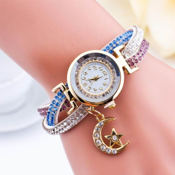 Women Source · Santorini Jam Tangan Wanita Moon Star Fashion Diamond Analog  Style . 6270578003